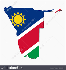 Namibia Map Namibia Map Flag Illustration