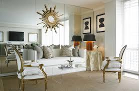 lime green velvet french chairs transitional living room