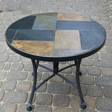 Patio Table Tile Top Alfresco Home Orvieto Mosaic Side Table Top View Mosaic Top Patio