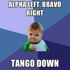 Alpha Meme - alpha left bravo right tango down create meme