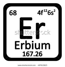 er element periodic table periodic table element erbium icon on stock photo photo vector