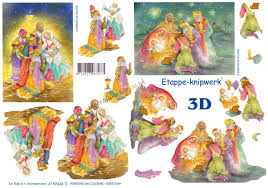 3 wise men christmas designs 3d decoupage sheet