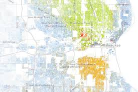 map of america with cities milwaukee shows what segregation does to american cities
