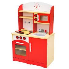 cuisine pour enfants cuisine en bois pour enfant 60x30x91 cm tectake achat et vente