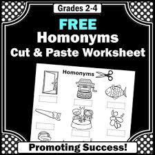 free homonyms worksheet homonyms activity homonyms speech therapy