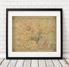 Salem Massachusetts Map by Salem Massachusetts Map Print Vintage Map Art Antique Map Wall