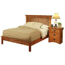 Oak Platform Bed Bedroom American Mission Oakplatform Bed M458