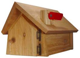 Decorative Wood Post Residential Mailboxes Cedar Chalet With Cedar Wood Post