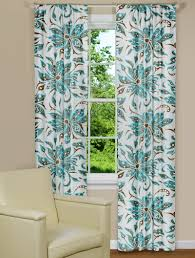 modern curtains because aqua cocoa floral panel