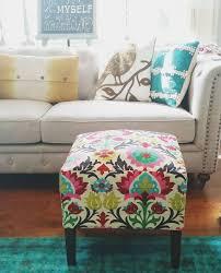 Floral Ottoman Diy Slipcover Ottoman Editeestrela Design