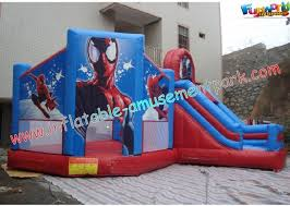 party outdoor inflatable bouncer slide kids spiderman