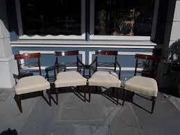 set six english regency mahogany dining room chairs circa dma