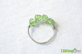 make wire rings images 4 steps to make a wire wrapped ring with green beads tutorial jpg