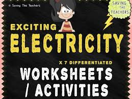 exciting electricity worksheets and activities by adamjharvey245