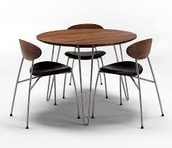 round walnut dining table luxury danish modern round dining table dm6690 wharfside