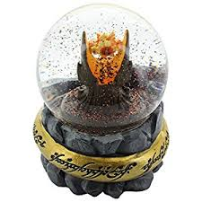 lord of the rings eye of sauron snow globe toys