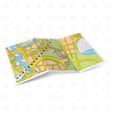 map paper design of city map folded paper booklet vector image 28500