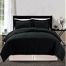 Down Alternative Comforter Sets Amazon Com 3 Piece Luxury Black Goose Down Alternative Comforter