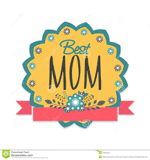 mothers day stickers sticker tag or label for happy mothers day celebration stock