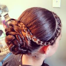 flower hair bun flower girl s hairstyle from today s wedding teaseandmakeup