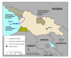 South Asia Political Map by Maps Of South Ossetia Detailed Map Of South Ossetia In English