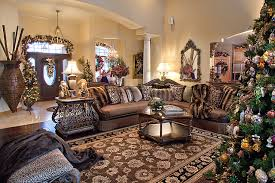 Christmas Decoration For Living Room Table by Christmas Decor Mediterranean Living Room Chicago By