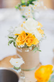 rustic wedding with yellow colour scheme at bassmead manor barns