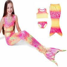 Ariel Mermaid Halloween Costume Aliexpress Buy Rainbow Dot Kids Mermaid Tail Halloween