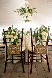 Bride And Groom Chair Signs 101 Best Wedding Chair Decor Images On Pinterest Wedding Chairs