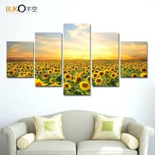 wall ideas 2017 sunflower shaped transparent wall hanging vase
