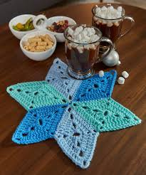 Star Table Star Table Mat Red Heart