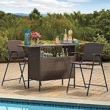 amazon com stratford wicker bar and balcony chairs best most