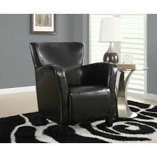 Black Leather Accent Chair Bellacor