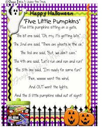 Poems On Halloween Pixie New In The Shop Five Little Pumpkins