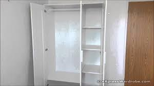 armoire closet ikea ikea brimnes 3 door wardrobe design youtube