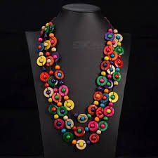 ethnic necklace design images Bohemia ethnic necklace pendant multi layer beads jewelry jpg