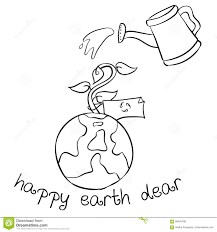 happy earth day hand draw world stock vector image 90444798