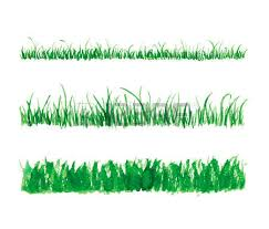 hand drawn watercolor grass set isolated on white background