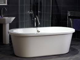 admirable modern freestanding baths with soaking oval bath tub admirable modern freestanding baths with soaking oval bath tub combined white accents color also wide edges design also curves faucet incorporates glass