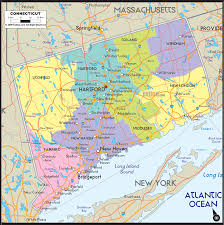 United States Political Map by Connecticut Political Map