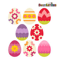 flower easter eggs clip art set daily art hub