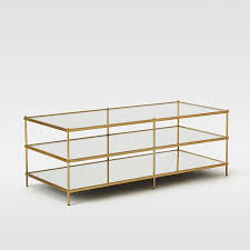 gold and glass coffee table terrace coffee table west elm
