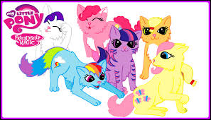 my little pony kittens mane 6 mlp funny coloring book video