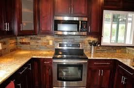 kitchen backsplash tile cherry cabinets home design ideas