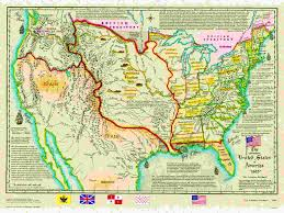 usa map louisiana purchase us historical series