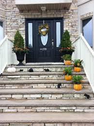 Pictures Of Front Porches Decorated For Fall - exterior image of small front porch decoration using single