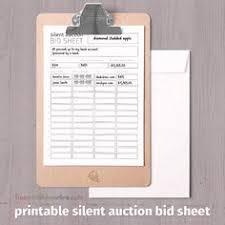 silent auction bid sheet 5 5 x 8 5 sku 100032 carnival