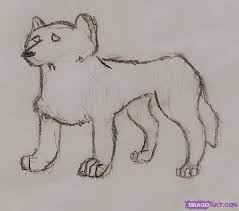how to draw a arctic wolf step by step forest animals animals
