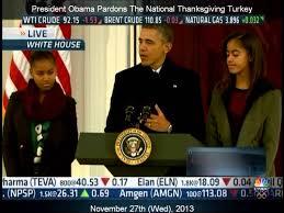 national thanksgiving turkey president obama pardons the national thanksgiving turkey 2013