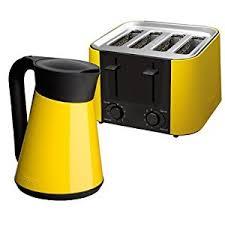 Kettle And Toasters Sets Daytona Kettle And Toaster Set Colour Yellow Amazon Co Uk